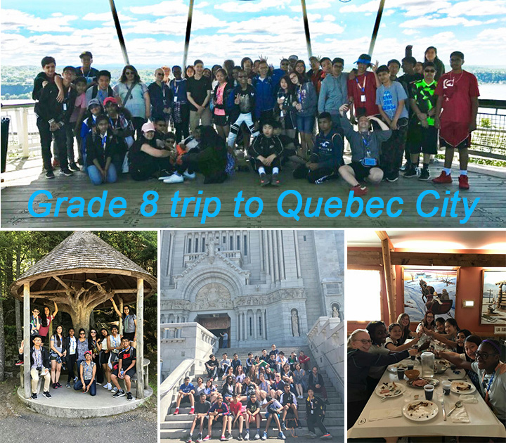 Gr. 8 trip to Quebec City