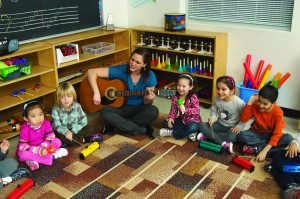 Photo of TCMPS Pre-School students participating in a sing along