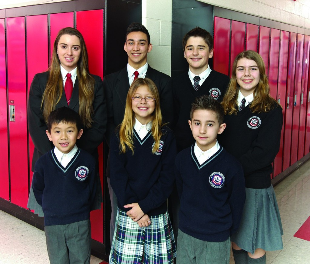 Photo of TCMPS Elementary School stendents in their School Uniforms