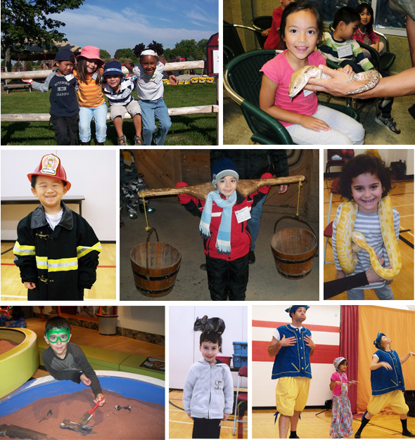 Photo mix of Pre-School Trips and Visitors to the school