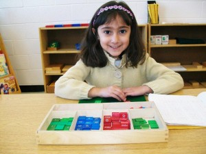 Photo of TCMPS student learning in Mathematics