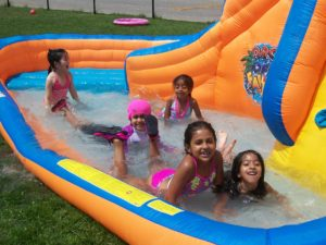 Summer camp splash pool