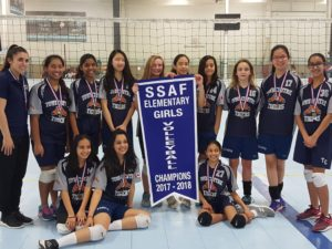 Elementary Girls Volleyball team