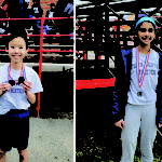 photos of the 2 students who won silver medals at the SSAF U12/Elem Track & Field Championship.