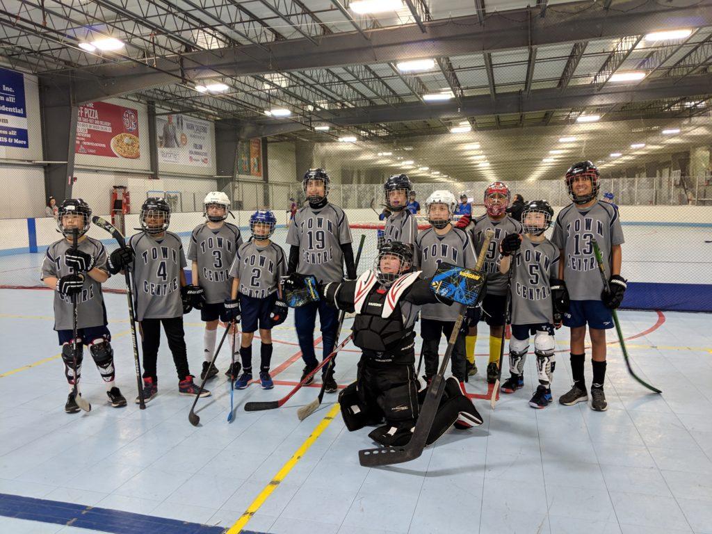 boys ball hockey