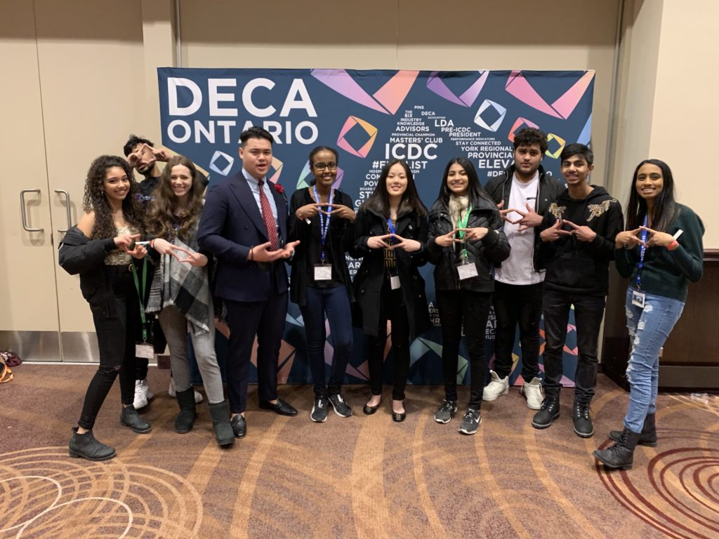 photo of TCPS students at DECA Provincial Competition