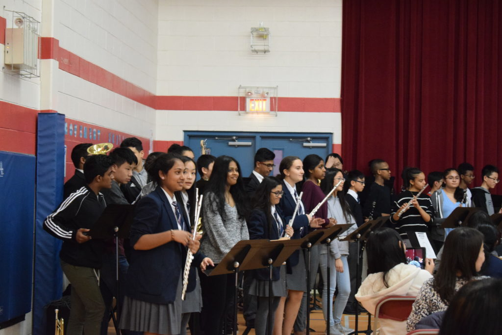 Senior Band perform at annual Arts Evening