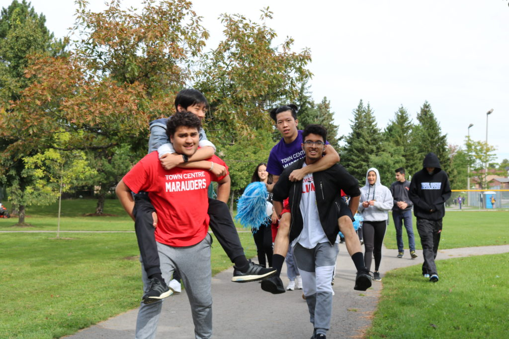 Students at the annual Terry Fox Run