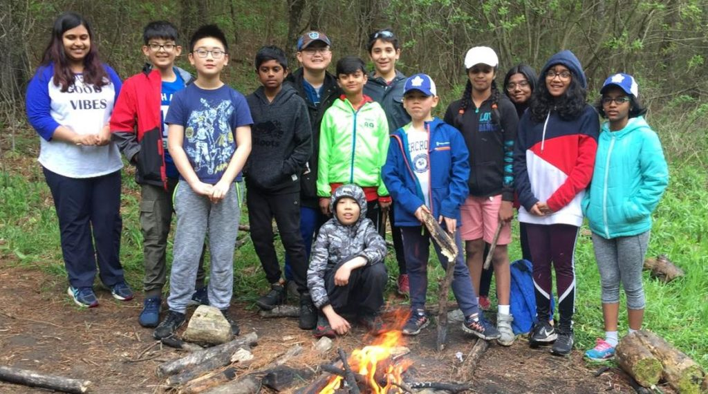 Grade 6 students on overnight trip to Camp Tournesol