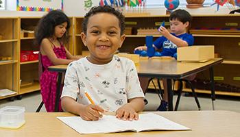 Pre-School Montessori classroom