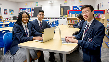High School student is Library Resource Centre