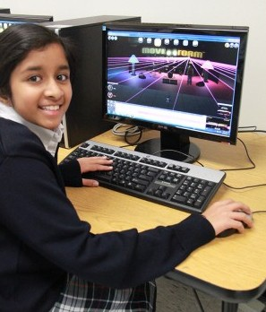 TCPS student in Digital Discovery class