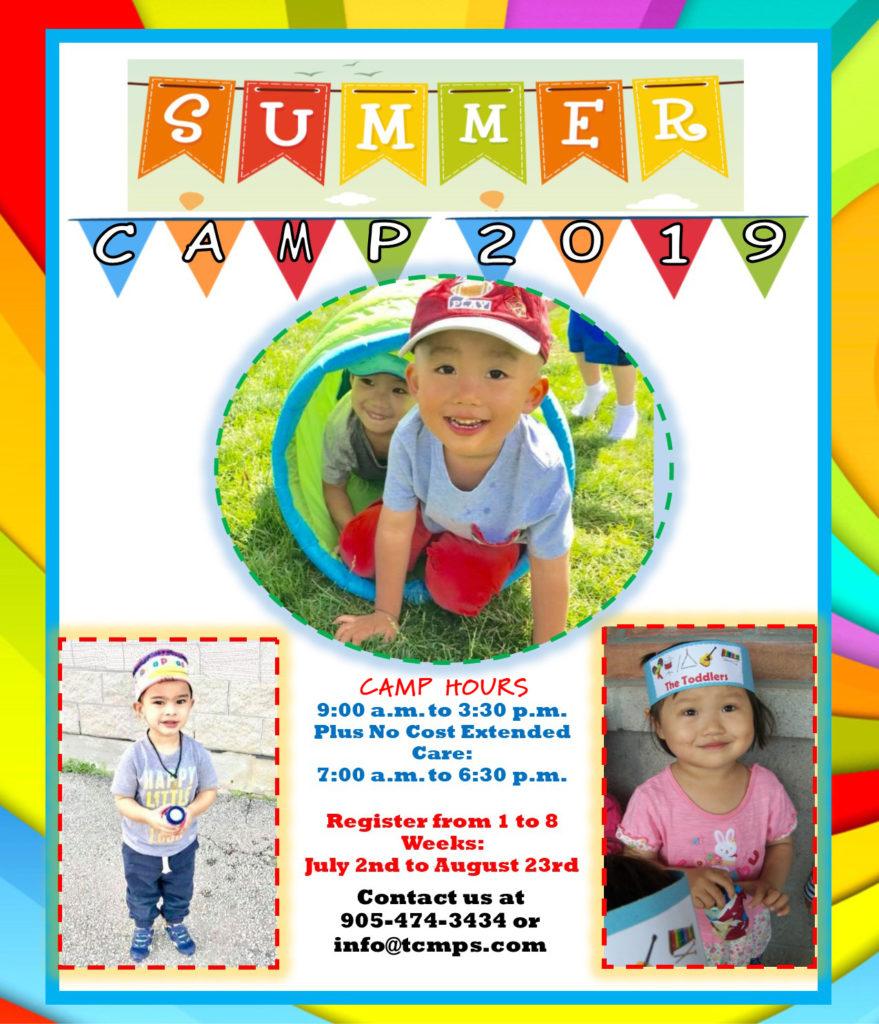2019 TCPS Pre-School Montessori Camp flyer