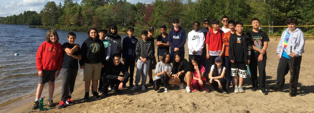 grade 9 students at Bark Lake