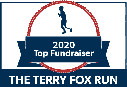Terry Fox 2020 Top Fundraiser badge